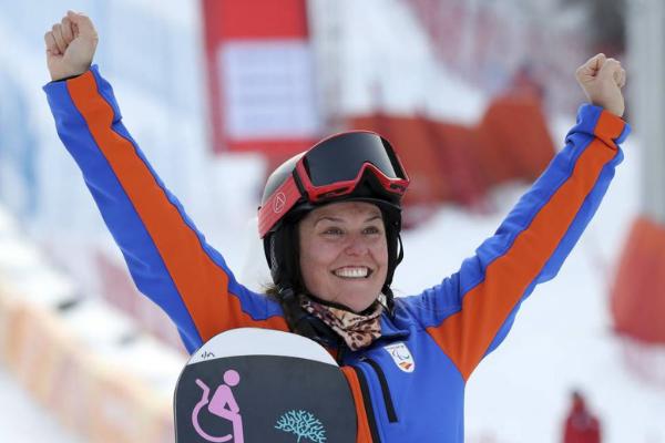 Astrid Fina Primera Medalla Paralimpica Snowboard