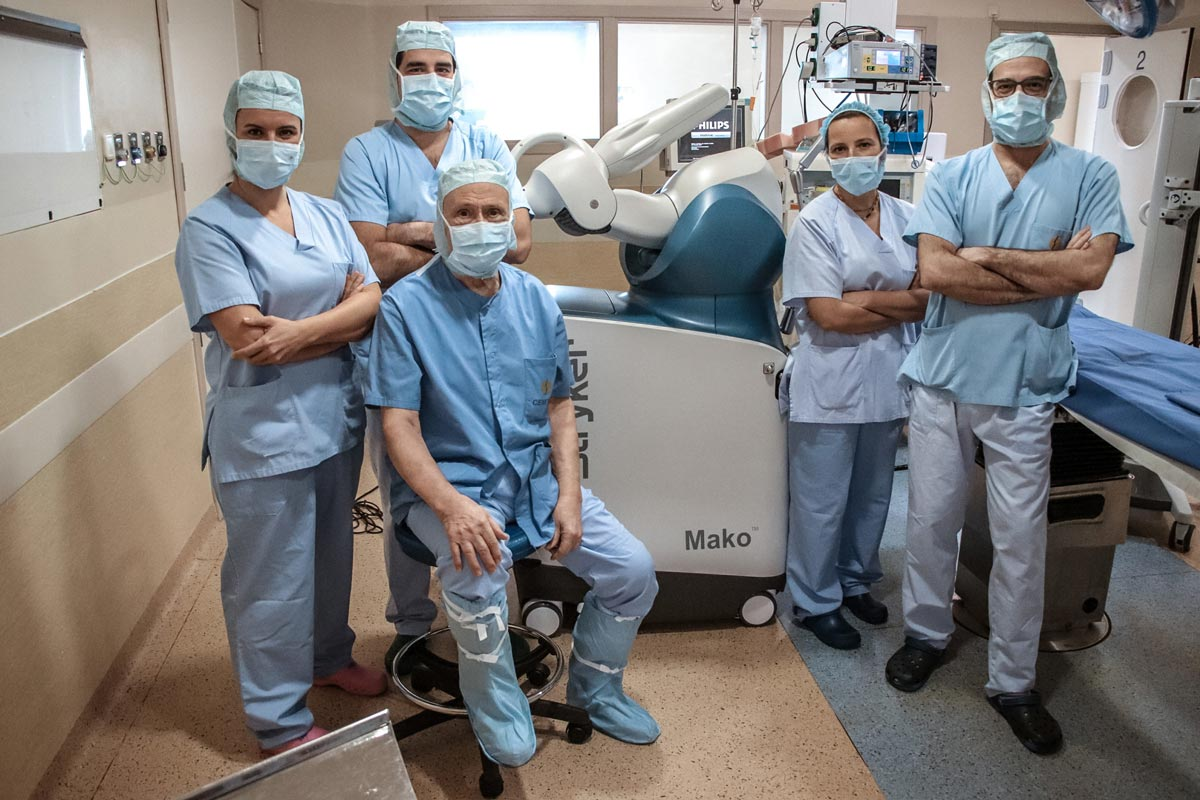 protesis rodilla cirugia robotica